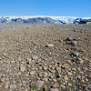 Barren plateau with  glacier views