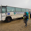 First day in Iceland, getting off the bus in Landmannalaugar. This photo does not do justice to how miserable the weather was and how discouraging it was to set up camp.
