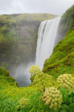 Waterfalls on the descent from Baldvinsskáli to Skógar