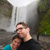 The end of the trail! Posing with Skógafoss, the final waterfall