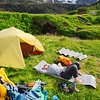 It is difficult to express in words how great it feels to like in a thick, soft grass after after several days of trekking, with the sun beaming down and Eyjafjallajökull Glacier in the distance.