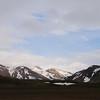 Watching the sun illuminating snow-capped mountains from Álftavatn