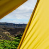 View of Eyjafjallajökull from our tent at Emstrur