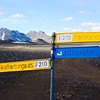 The walking trail to Emstrur follows some of the Icelandic Highland roads