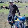 Sunhat, swimming trunks, compression socks: best dressed hiker on the Laugavegur Trail