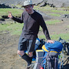 Sunhat, swimming trunks, compression socks: best dressed hiker on the Laugavegur Trail
