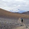 This barren, ashy plain makes up much of the trail between Hvanngil and Emstrur, with impressive views of  Eyjafjallajökull for much of the day