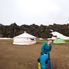 Packing up camp at Landmannalaugur