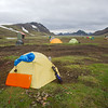 Drying our things at Álftavatn, even our sleeping bags were wet!