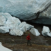 Day 1: Two geologists take samples in the ice caves, a dangerous task if you watch the ice blocks on the ground.