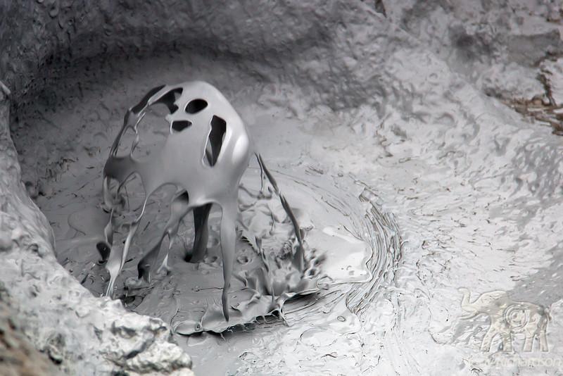 Mud Art-Hverarönd Mud bubbling