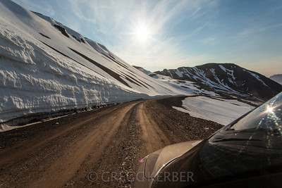 Mountains along Rte 60 (60 km of gravel road)
