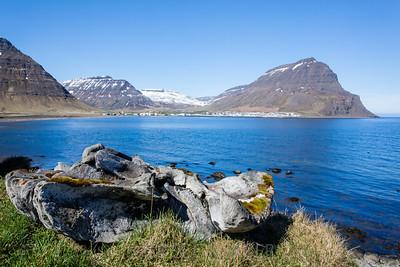 Looking towards Holmavik from Miðasala