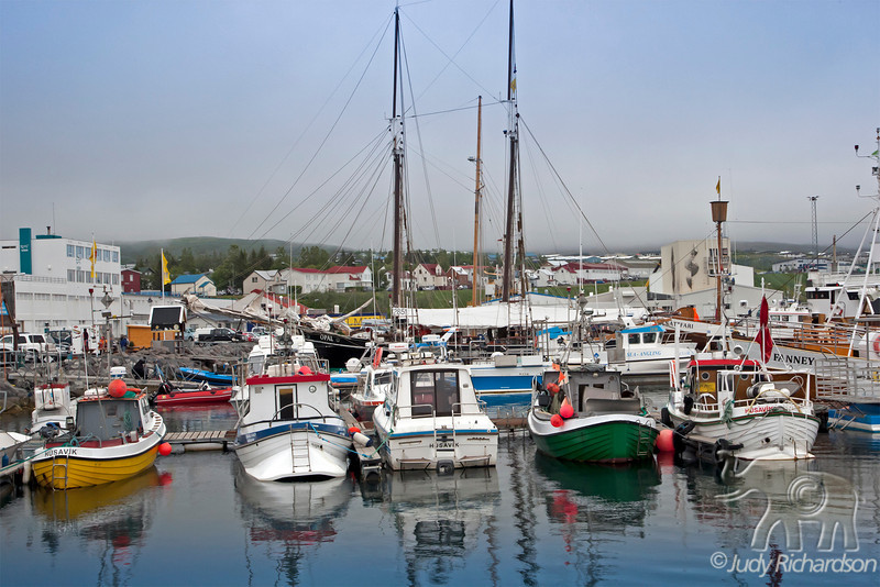 Húsavík Harbor in North Iceland