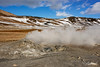 Steaming fumeroles, Namafjall Geothermal Area, Hverir, Myvtan, Iceland