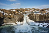 Aldeyjarfoss Falls with columnar basalt, Skkjalfandafljot River, Bardalur Valley, Iceland