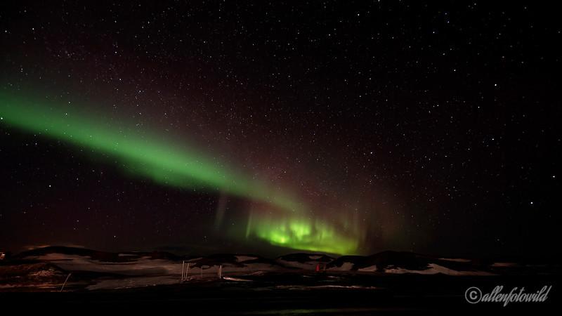 Northern lights, Myvatn, Northern Iceland