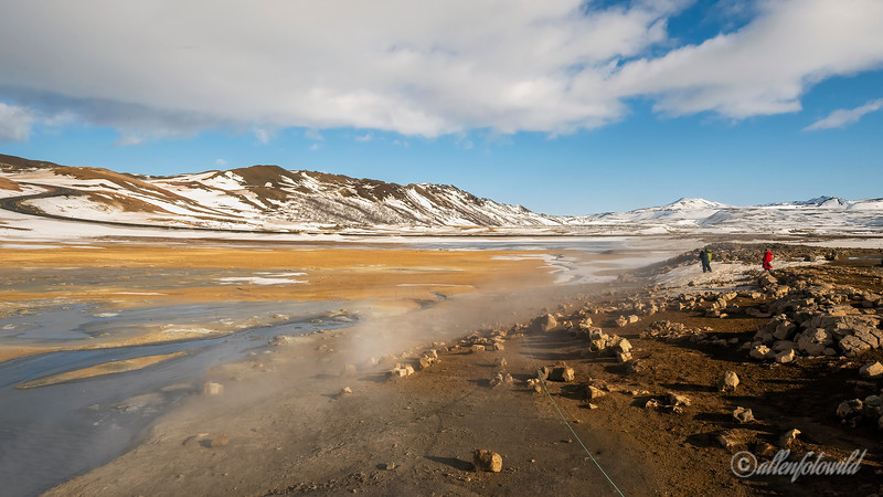 Namafjall Geothermal Area, Lake Myvtan, North Iceland