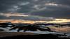 Volcanic landscape at sunrise, Myvtan Lake, North Iceland