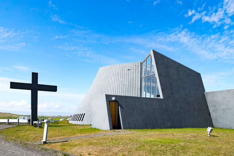 The Volcano Church in Blonduos