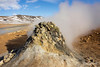 Sulfuric smoker, Namafjall Geothermal Area, Hverir, Myvtan, Iceland