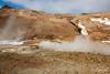 Steaming volcanic landscape, Namafjall Geothermal Area, Hverir,  Myvtan, Iceland
