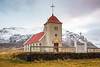 A country church on the Snaefellsnes Peninsula of Iceland.