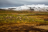 Autumn landscape with snow capped mountains on the Snaefellsnes Peninsula, Iceland.