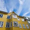 Colourful Reykjavík buildings