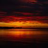 Midnight sun setting over Reykjavík