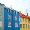 Colourful buildings in Central Reykjavík