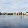 View across Tjörnin Lake in central Reykjavík
