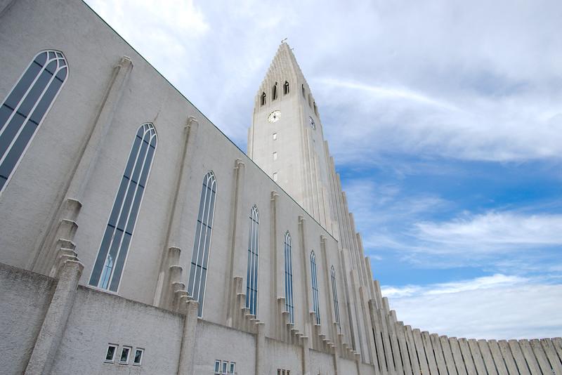 Reykjavík's most recognizable landmark, the Hallgrímskirkja Lutheran Church