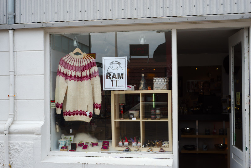 Central Reykjavík is wall-to-wall tourist shops
