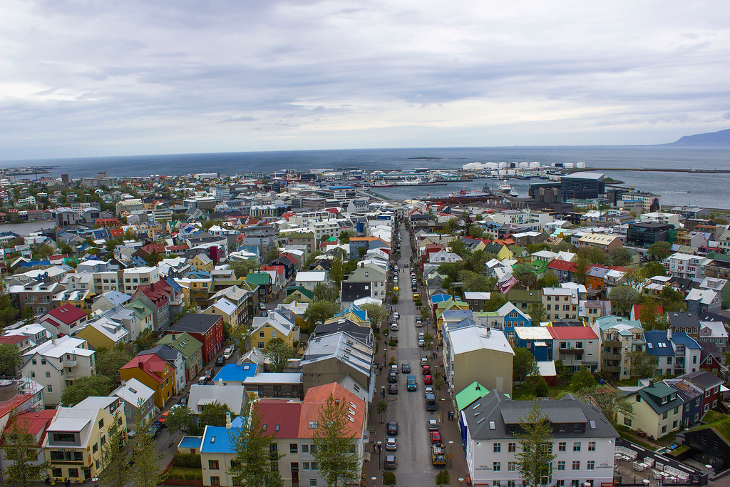 Prettiest cities: Reykjavik Iceland