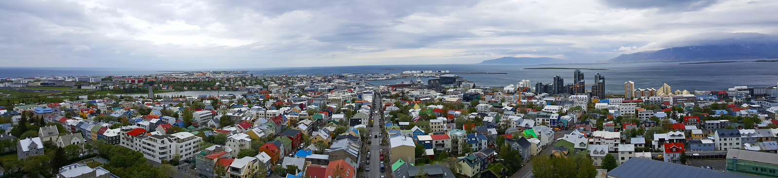 Views of Reykjavik from the top of Hallgrimskirkja Church