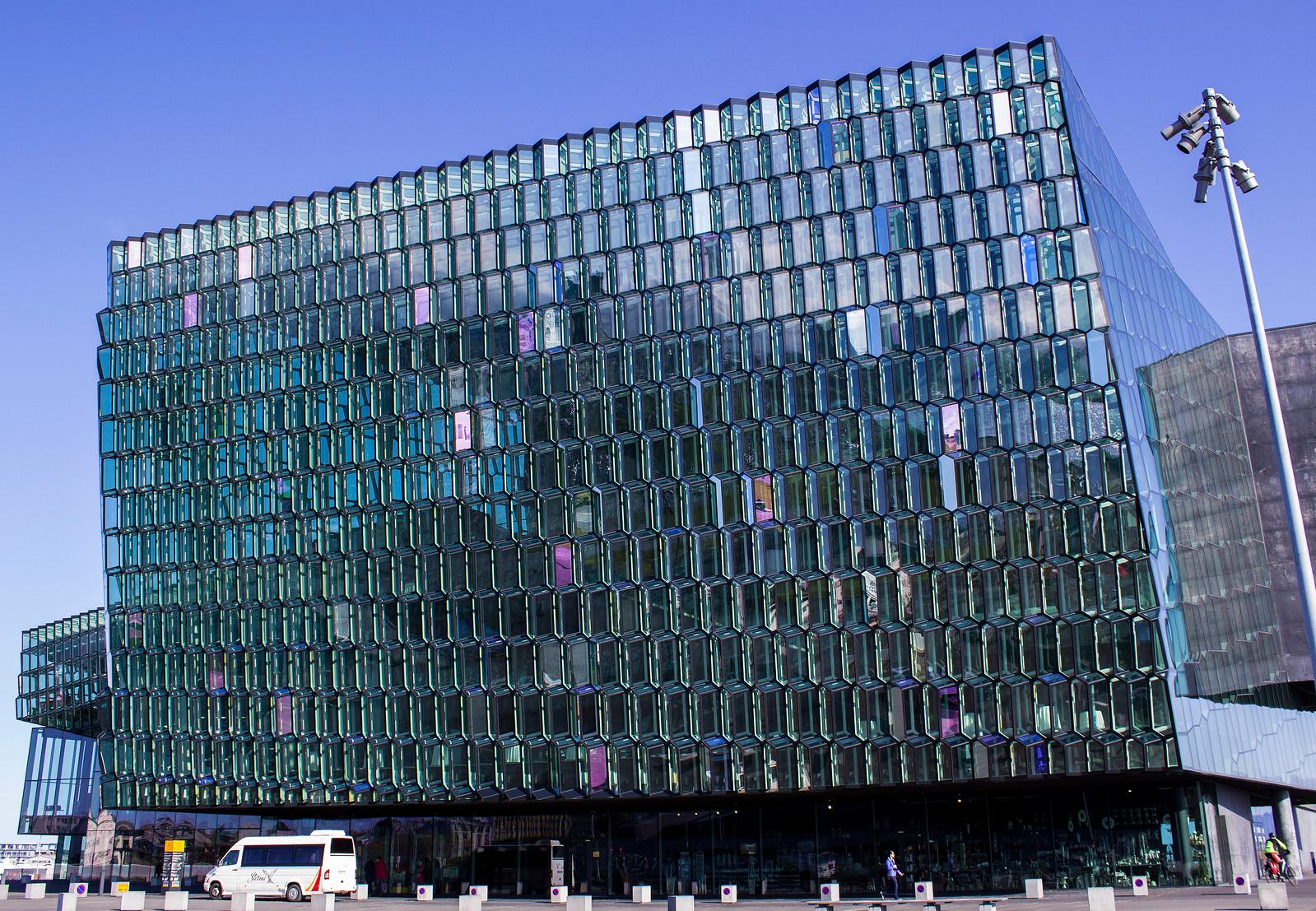Harpa concert hall in Reykjavik Iceland
