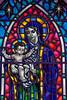 Stain Glass window in Hallgrímskirkja Lutheran Church-Reykjavik, Iceland