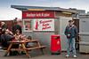Famous hot dog stand (Bæjarins beztu pylsur) in Reykjavik, Iceland near Tjörnin (The Pond)