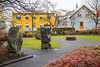 A small historic park in downtown, Reykjavik, Iceland.