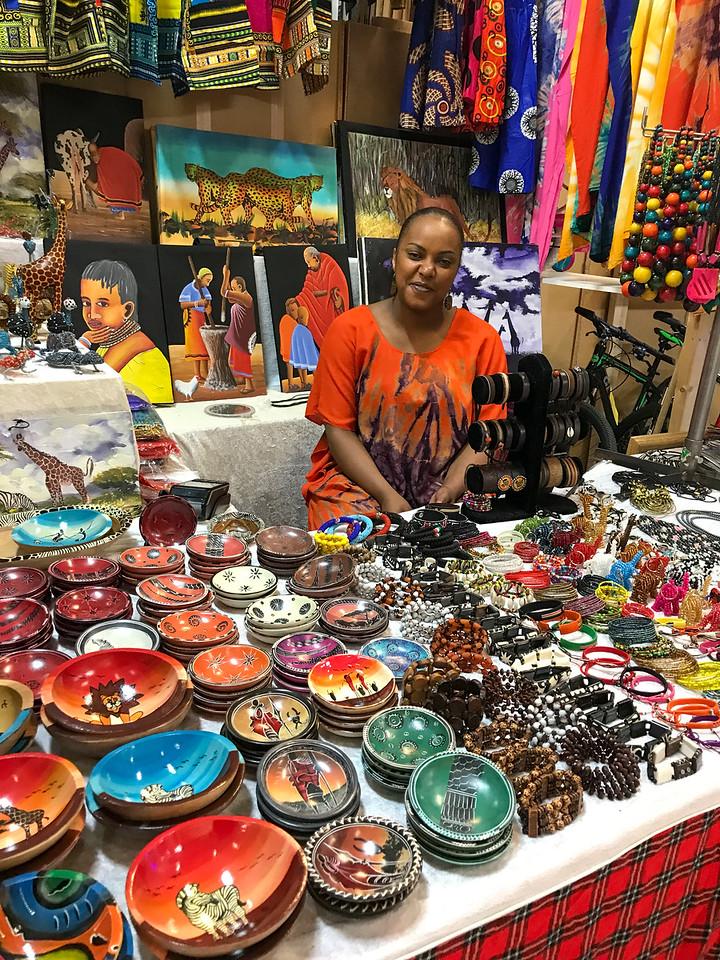 Nice girl in the flea market