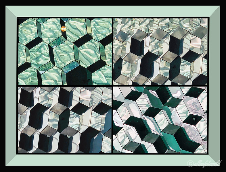 Glass collage