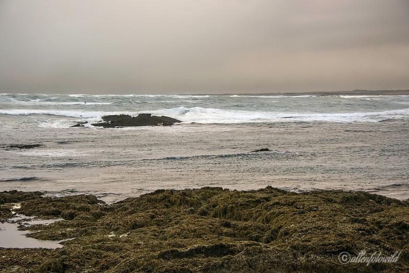 Stormy seas at low tide, Hafnir, Reykjanes Peninsula, Iceland