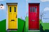Doors in Reykjavik, Iceland.