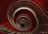 Spirals in red and white