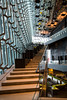 Interior architecture of the Harpa, Conference and Concert Hall on the waterfront in Reykjavik, Iceland.