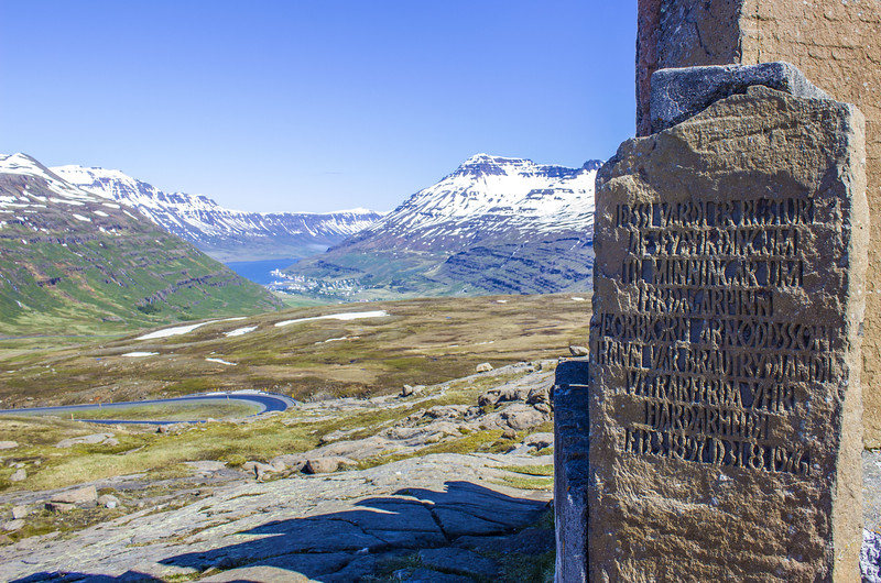 Monument near Seydisfjordur Iceland