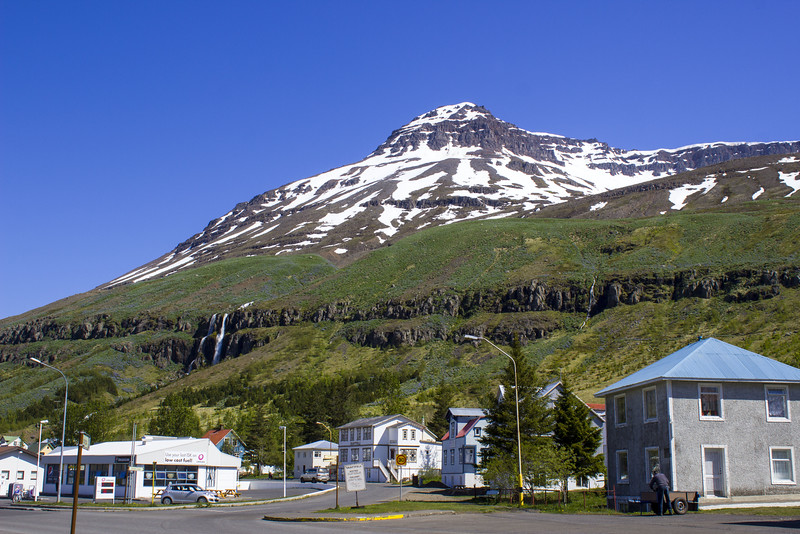 Walking around Seydisfjordur Iceland