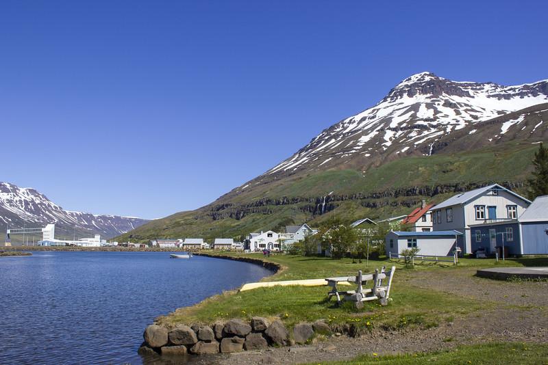 Cute town of Seydisfjordur Iceland