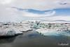 Jumbled icebergs in Jökulsárlón glacier lagoon,  Vatnajökull National Park, Iceland